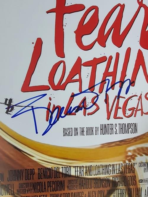 Fear and Loathing in Las Vegas MULTIPLE SIGNED POSTER 27x40""