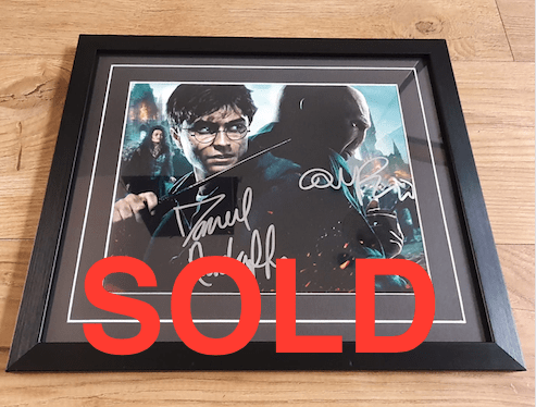 Harry Potter Framed Photo SIGNED BY DANIEL RADCLIFFE AND RALPH FIENNES -- SOLD