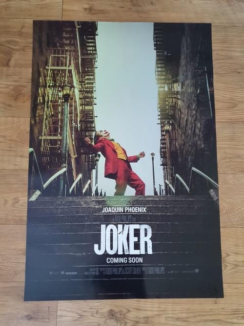 "Joker 2019 'Coming Soon' ORIGINAL POSTER 27X40"""