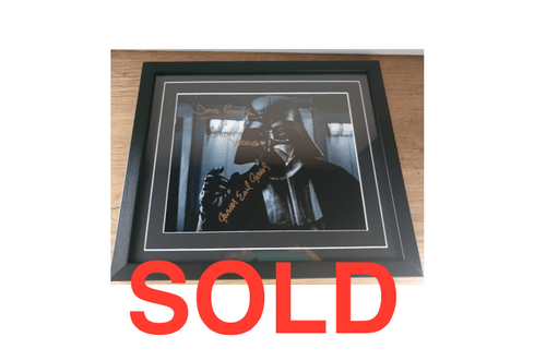 Darth Vader Framed Colour Photo SIGNED BY JAMES EARL JONES AND DAVID PROWSE -- SOLD
