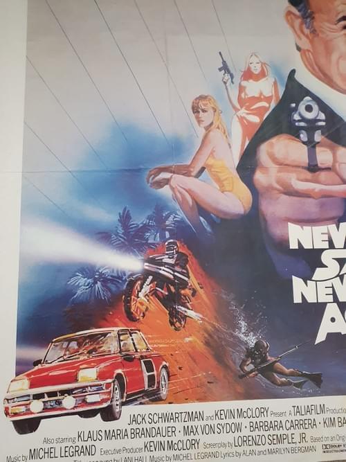 """Never Say Never Again ORIGINAL QUAD MOVIE POSTER 30 x 40"""""""