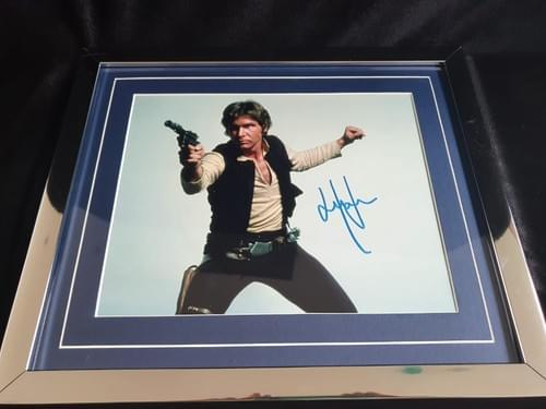 Han Solo Framed Photo SIGNED BY HARRISON FORD