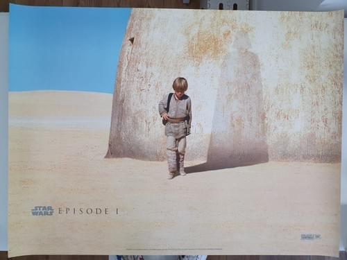 "Star Wars Episode I RARE ADVANCE QUAD POSTER 30 x 40"""
