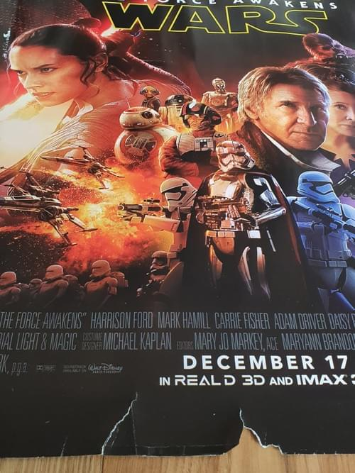 Star Wars: The Force Awakens ORIGINAL QUAD MOVIE POSTER 30 x 40""