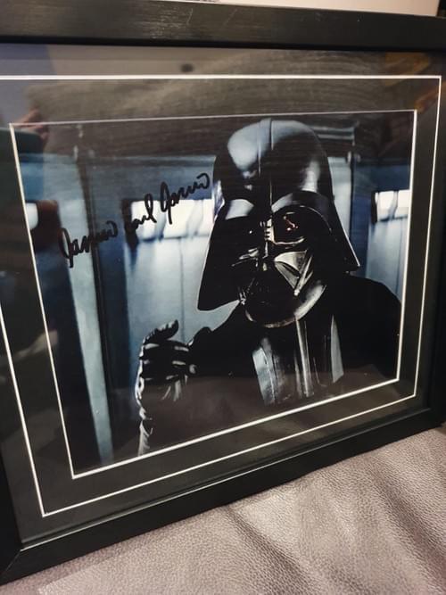 Darth Vader Framed Photo SIGNED BY JAMES EARL JONES