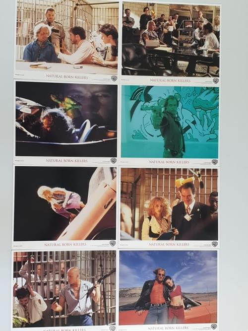 Natural Born Killers ORIGINAL FRONT OF HOUSE STILLS - SET OF 8 - EACH 8x10""