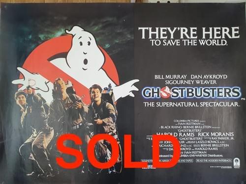 "Ghostbusters ORIGINAL QUAD POSTER 40 x 30"""