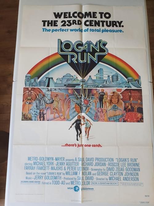 "Logan's Run (1975) ORIGINAL POSTER 27x41"""
