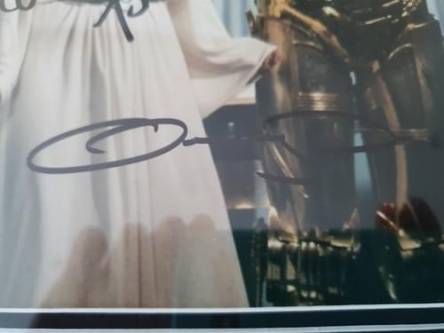Princess Leia 8 x Postcards 2 x Photos SIGNED BY CARRIE FISHER