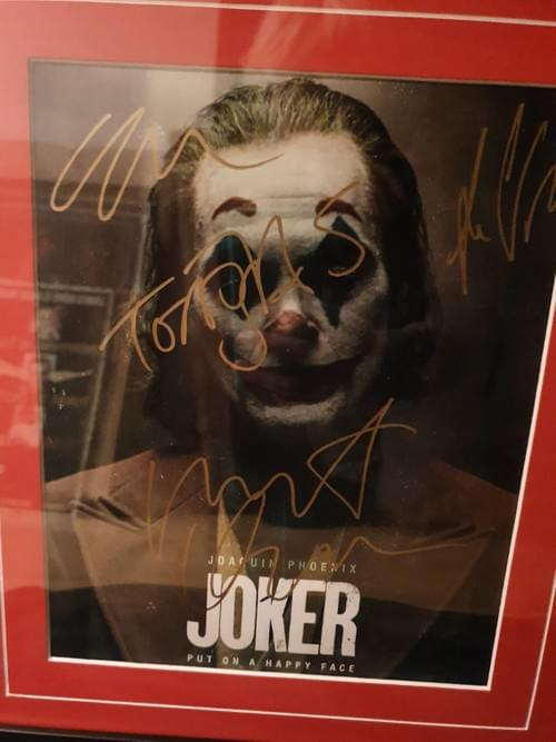Joker 2019 Framed Photo SIGNED BY CAST MEMBERS INCLUDING JOAQUIN PHOENIX -- SOLD