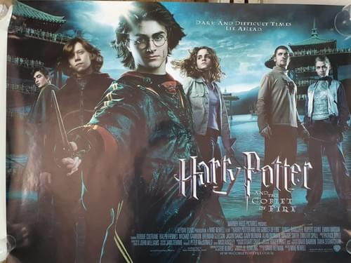 Harry Potter and The Goblet of Fire ORIGINAL QUAD POSTER 30 x 40""