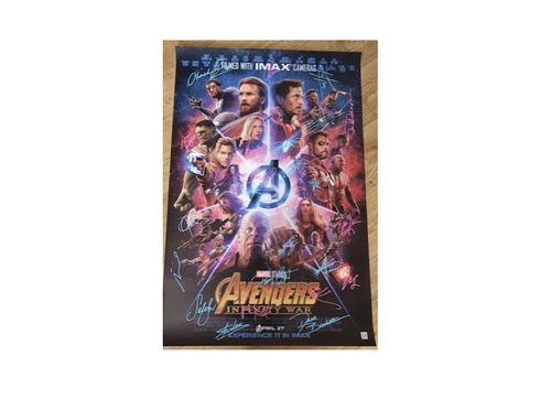 "Avengers: Infinity War MULTIPLE SIGNED POSTER 27x40"" -- SOLD"