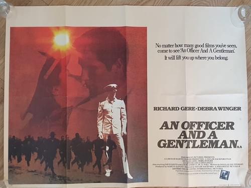 """An Officer and a Gentleman (1982) ORIGINAL QUAD POSTER 30 x 40"""""""
