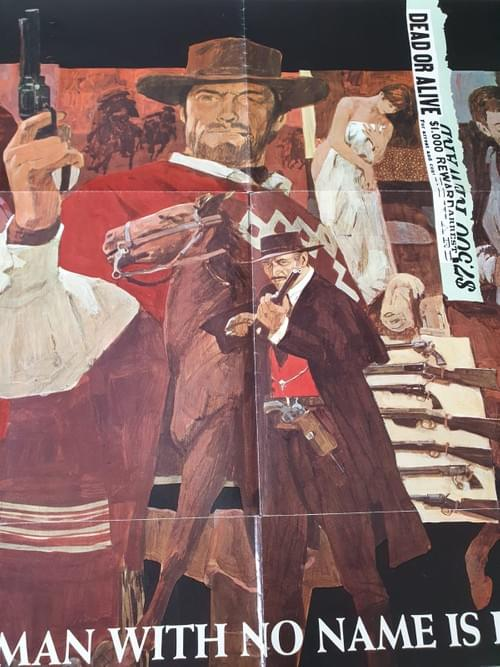 """For a Few Dollars More (1967 US RELEASE) ORIGINAL POSTER 27x41"""""""