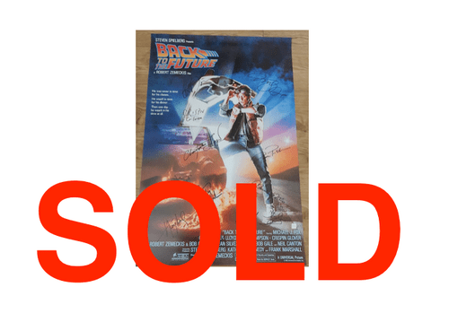 Back to the Future MULTIPLE SIGNED POSTER 27X40""