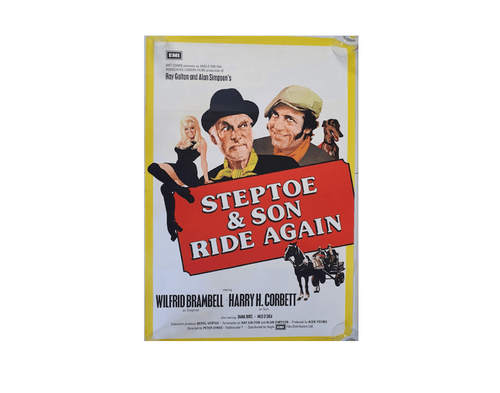 Steptoe and Son Ride Again (1973) RARE ORIGINAL ONE SHEET MOVIE POSTER 27 x 41""
