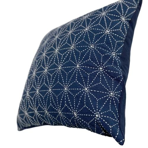 Sashiko Pillow Cover  // Sustainable Sashiko Project