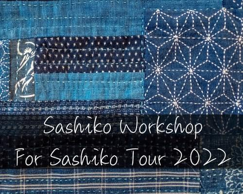 Sashiko Class for Sashiko Tour with Tanpopo Journeys