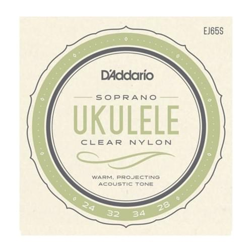 Set Ukulele Strings Clear Nylon EJ65S