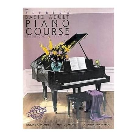 Alfred Basic Adult Piano Lesson Book 1 Bk&DVD
