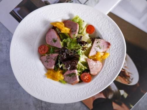 蜜鴨胸炭油沙拉(產地:宜蘭蜜鴨胸)