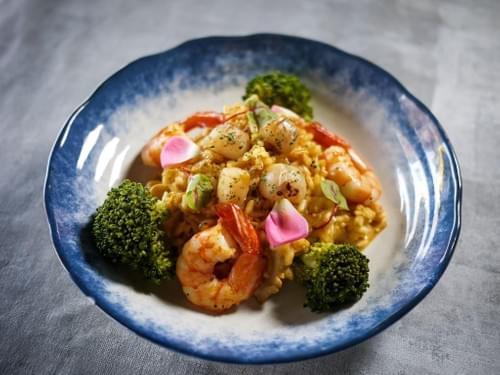 干貝鮮蝦海膽燉飯