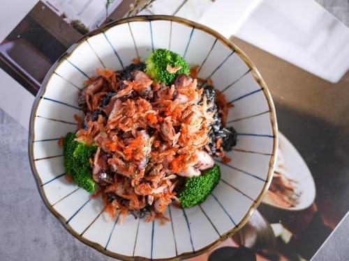 爐烤小管櫻花蝦墨魚燉飯