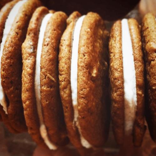 Dark N Stormy Cookie Sandwiches