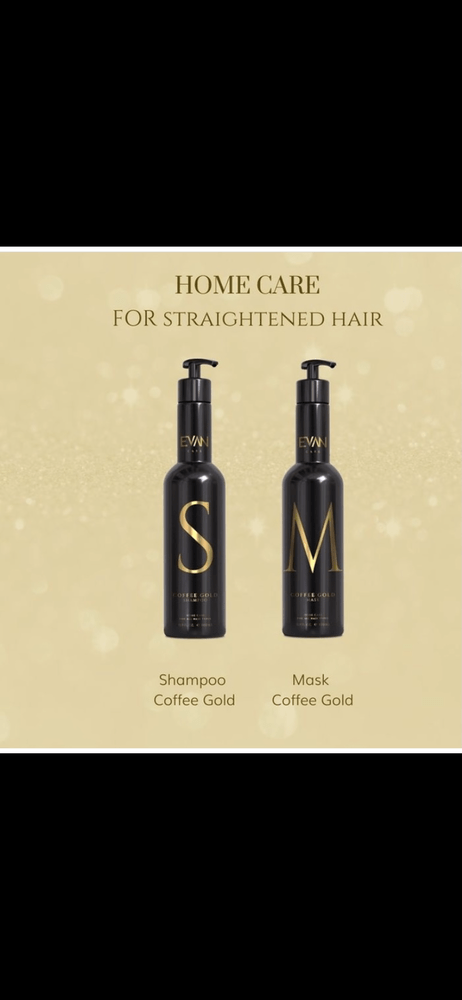 Masque et shampoing  Evan care coffee gold 500ml