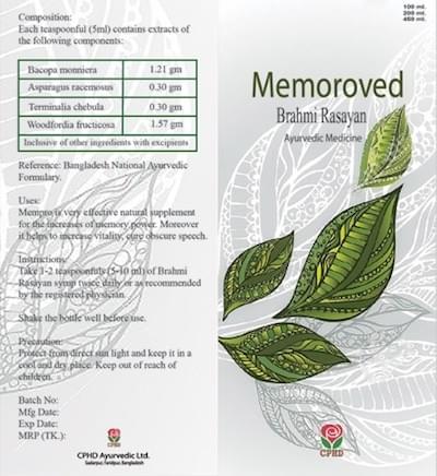 MEMOROVED - Brahmi Rasayan