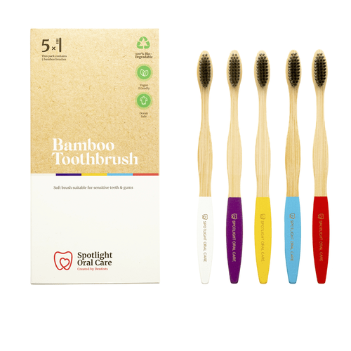 Spotlight Oral Care Bamboo Toothbrushes 5 Pack