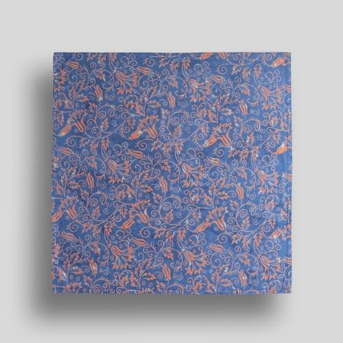 Blue + Orange Flowers