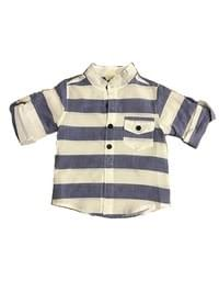 Boys Blue and White Stripe Shirt