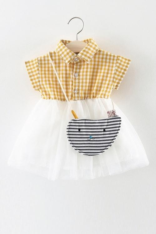 Dope Little Girls Plaid Top and Lace Skirt