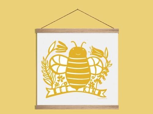 Bee Kind-Art Print