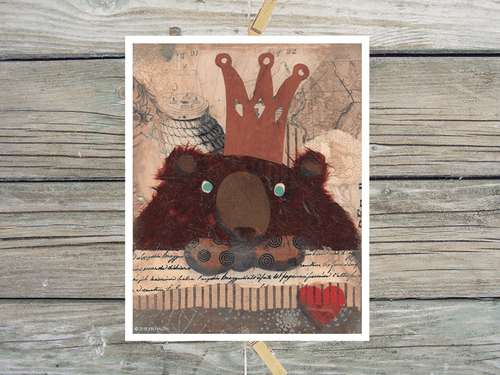 Bear King-Art Print