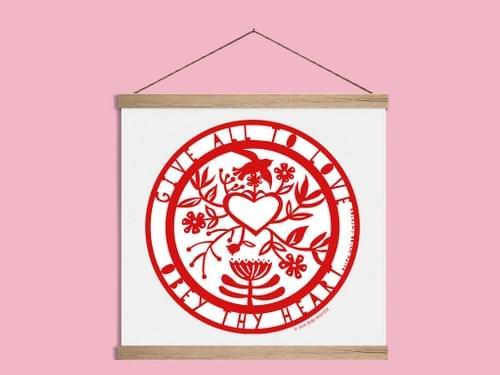 Obey Thy Heart-Art Print