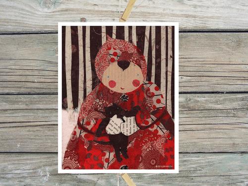 Red-Art Print