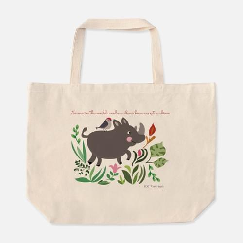 Baby Rhino Canvas Tote
