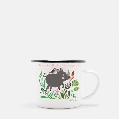 Baby Rhino Camp Mug