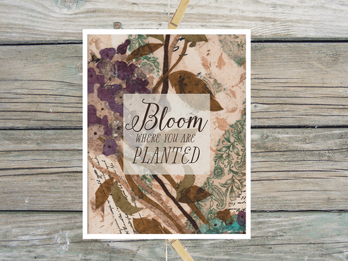 Bloom Where You Are Planted-Art Print