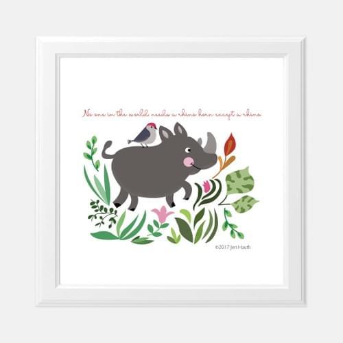 Endangered Animals Series-Black Rhino