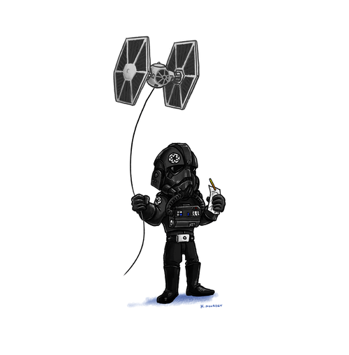 Lil' Tie Fighter Pilot's Day Off