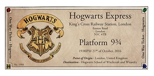 Hogwarts Express Ticket