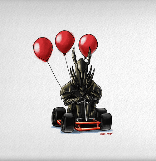 Dark Souls vs Mario Kart (Black Knight)