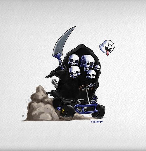 Dark Souls vs Mario Kart (Set of 3)