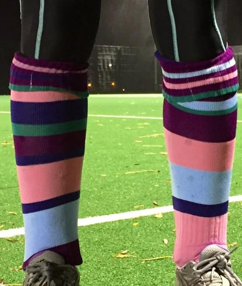 Tildabeest Mismatched striped shinny sports socks