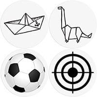 Stickers pour WC – Apprentissage de la propreté – 8 Stickers Enfant