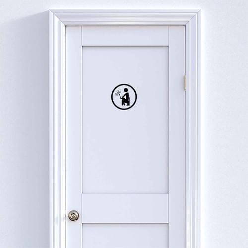 Stickers décoration porte wc –  Geek