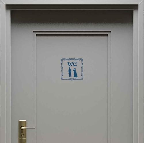 Stickers muraux porte wc – Femme et Homme – Vintage